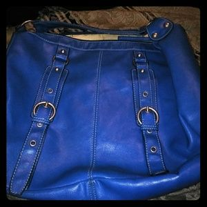 Chinese Laundry large blue leather tote